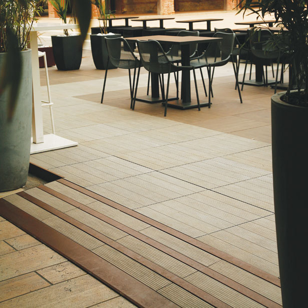 Levato Mono Porcelain Paver System Lightweight
